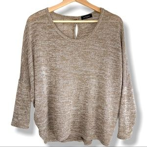 Eclipse Oversized Button Accent Top